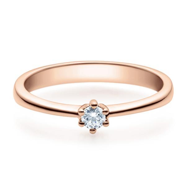 Rubin Verlobungsring 18001 Rotgold Solitär Ring 0.100 ct.