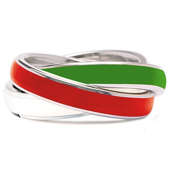 Quinn 3-in-1 Ring, rot-grün-weiß
