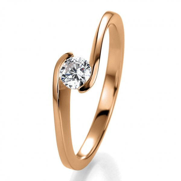 Antragsring Rotgold mit Brillant 0,30 ct 41/53130