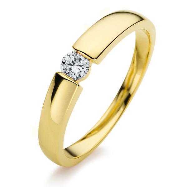 DiamondGroup Ring 14 kt Gelbgold, poliert - 1A396G452-2