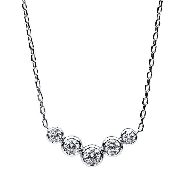 DiamondGroup Diamantcollier Collier 14 kt Weißgold, ZÖ 40 + 42,5 cm - 4B535W4-1