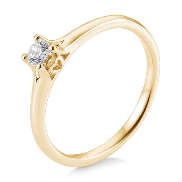 Saint Maurice Verlobungsring Gelbgold 585 Herz Brillant Krappenfassung 41/05680