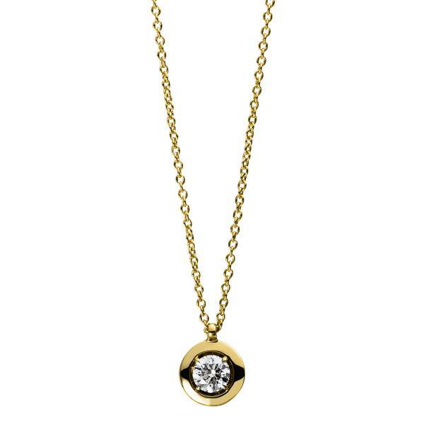 DiamondGroup Diamantcollier Collier 14 kt Gelbgold - 4D561G4-1