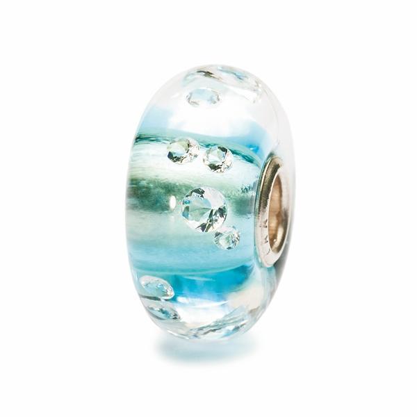 Trollbeads Diamanten Bead Eisblau TGLBE-00040, 81008