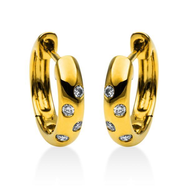 DiamondGroup Creolen aus 18 kt Gelbgold 2B831G8-3
