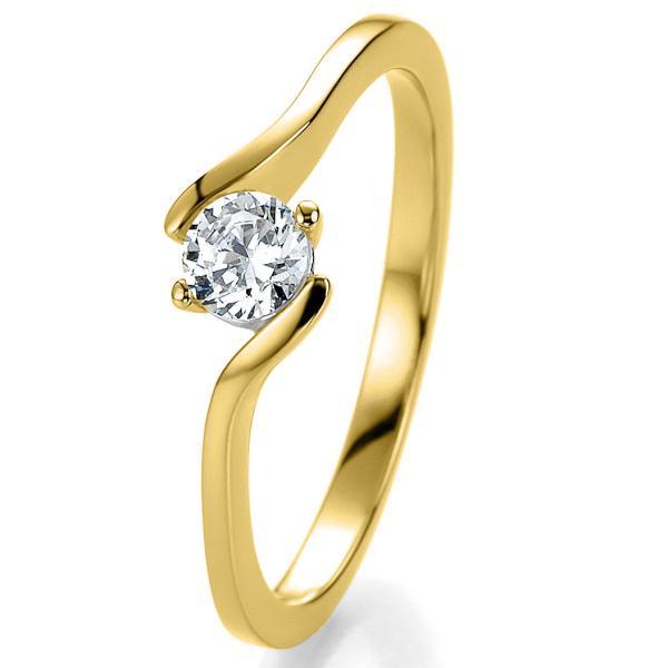 Antragsring Gelbgold mit Brillant 0,10 ct 41/52960