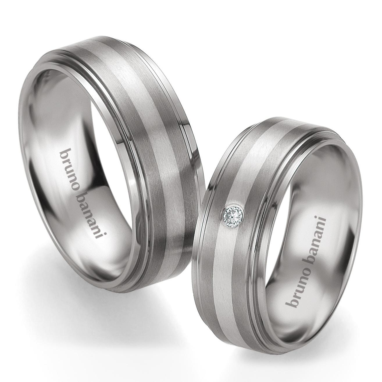 Bruno Banani Ringe Titan mit Silber 42.83188  44.83189