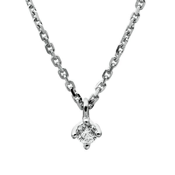 DiamondGroup Diamantcollier Collier 4er-Krappe 14 kt Weißgold - 4A305W4-9