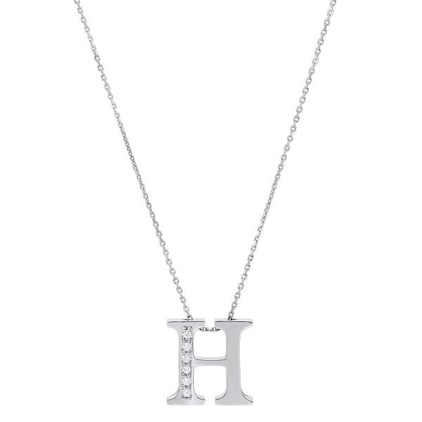 DiamondGroup Diamantcollier Collier 14 kt Weißgold H - 4A435W4-1