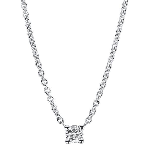 DiamondGroup Diamantcollier Collier 4er-Krappe 14 kt Weißgold - 4A027W4-3