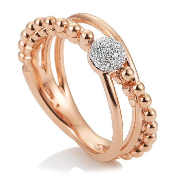 Breuning Ring Rotgold Brillant 41/05685