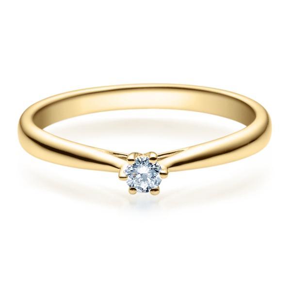Rubin Verlobungsring 18007 Gelbgold Solitär Ring