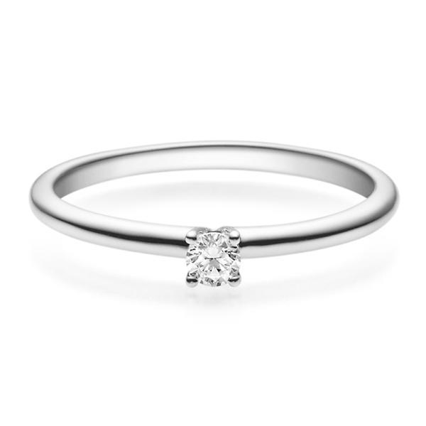 Rubin Verlobungsring 18018 Weißgold Solitär Ring 0.100 ct.