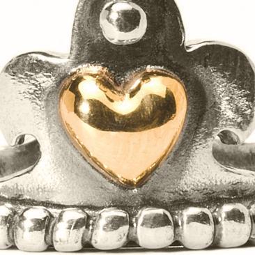 Trollbeads Krone mit Gold Ring R4111