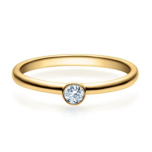 Rubin Verlobungsring 18019 Gelbgold Solitär Ring 0.100 ct