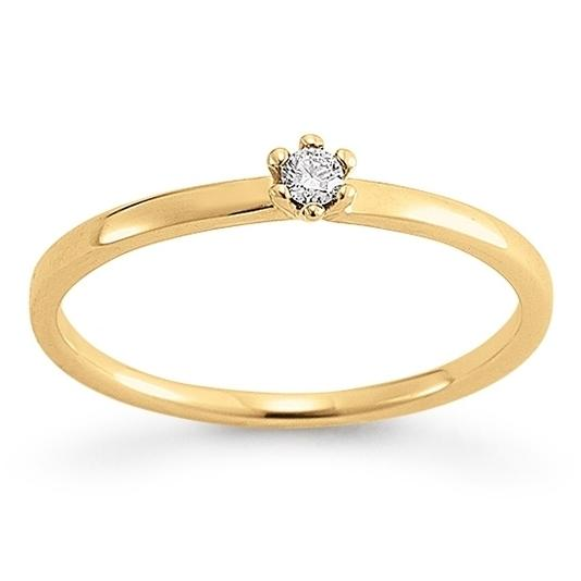 First Love Solitär Ring Gelbgold 585 Palido K10245G