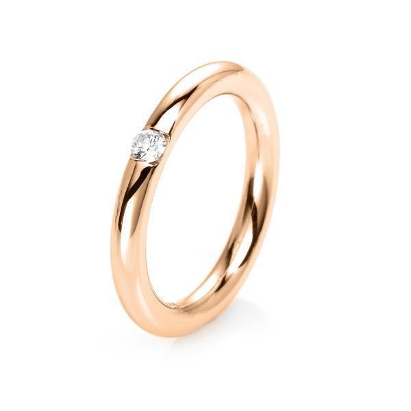 DiamondGroup Ring 14 kt Rotgold, poliert - 1E479R453-1