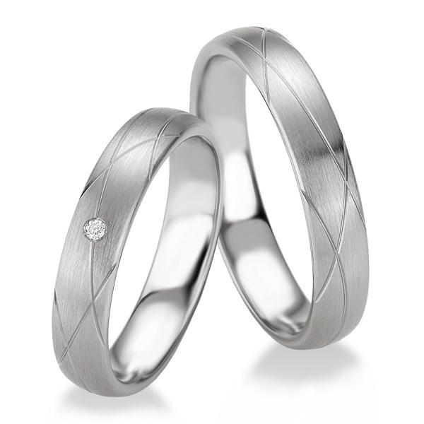 Breuning Trauringe Partnerringe 48/08073 & 48/08074 aus Silber 925