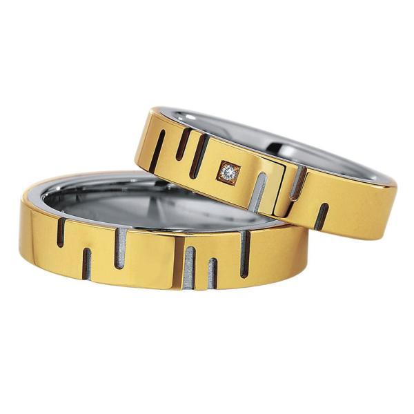 Saint Maurice Stahl-Gold-Ringe 88236 88237