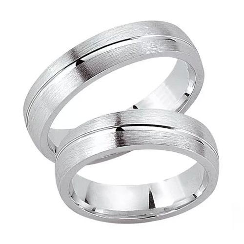 Schwarz Trauringe / Partnerringe Silber 925 SW925-020 Sterlingsilber feinmatt