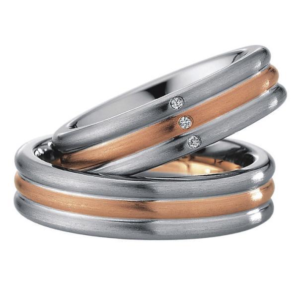 Saint Maurice Stahl-Gold-Ringe 88222 88223