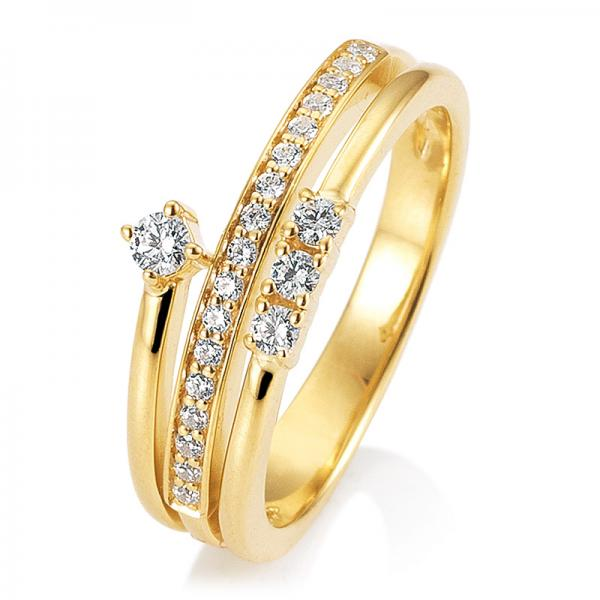 Breuning Ring Gelbgold Brillant 41/05927
