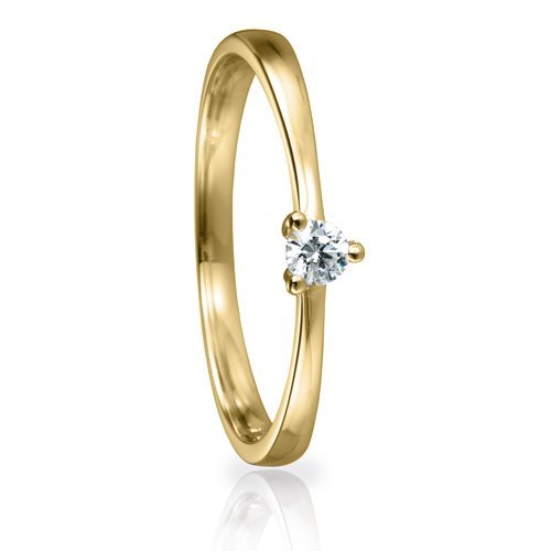 Solitaire Ring 82149 Brillant 0,10 ct Gelbgold