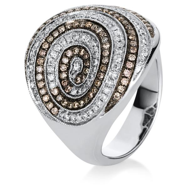 DiamondGroup Ring 18 kt Weißgold, schwarz rhodiniert - 1A009W856-1