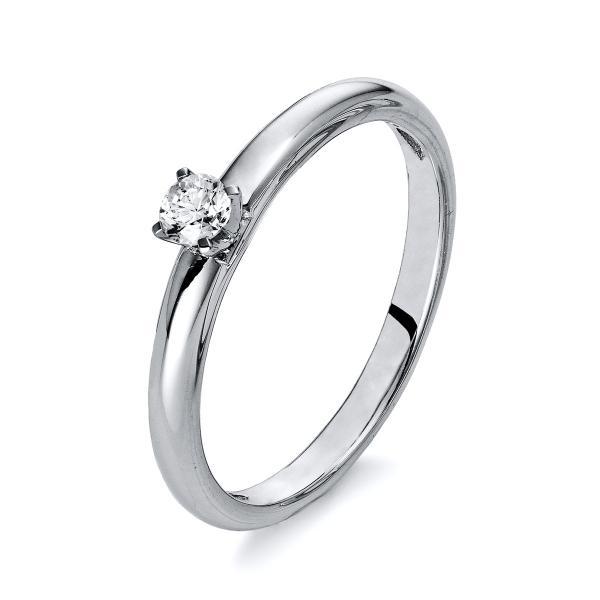 DiamondGroup Ring 4er-Krappe 18 kt Weißgold - 1Q412W855-1