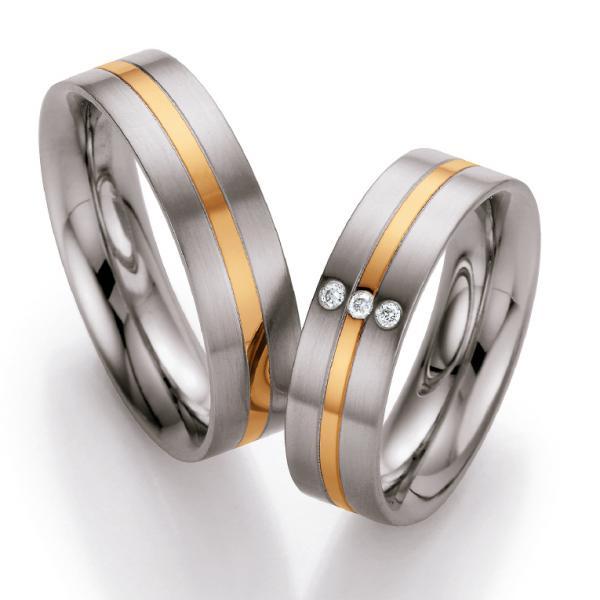 Ruesch Stahl-Gold-Ringe St138B