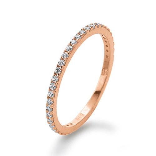 Memoire Ring Rotgold 585 Zirkonia Palido K11284R