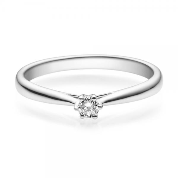 Rubin Verlobungsring 18007 Weißgold Solitär Ring