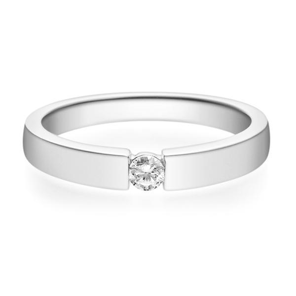 Rubin Verlobungsring 18012 Platin Solitär Ring