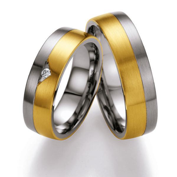 Ruesch Gold-Stahl-Ringe ST506B