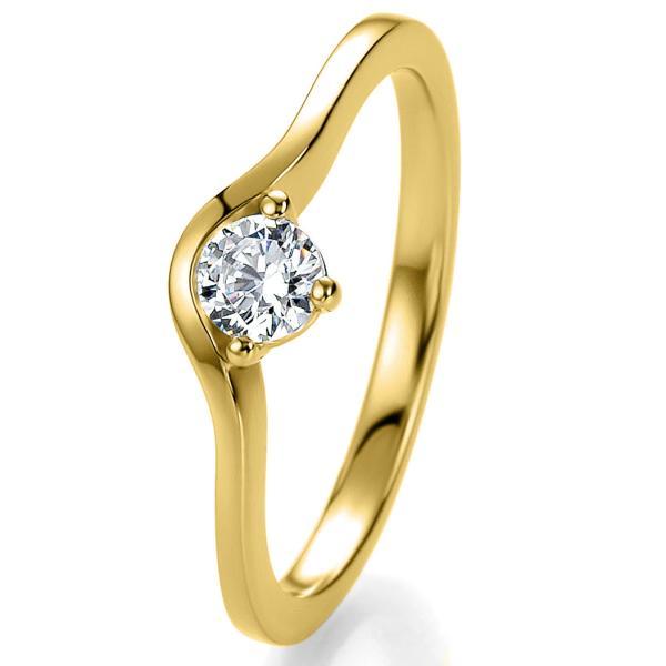 Antragsring Gelbgold mit Zirkonia 41/53000