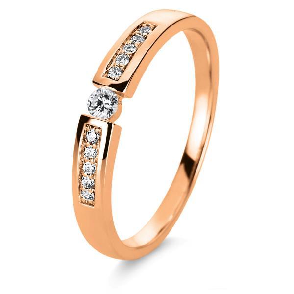 DiamondGroup Ring 14 kt Rotgold, poliert - 1A401R454-1