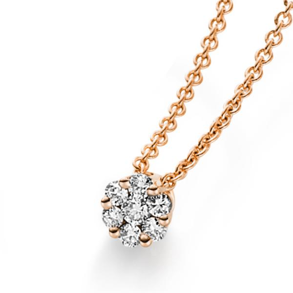 DiamondGroup Diamantcollier Collier 14 kt Rotgold - 4A215R4-3