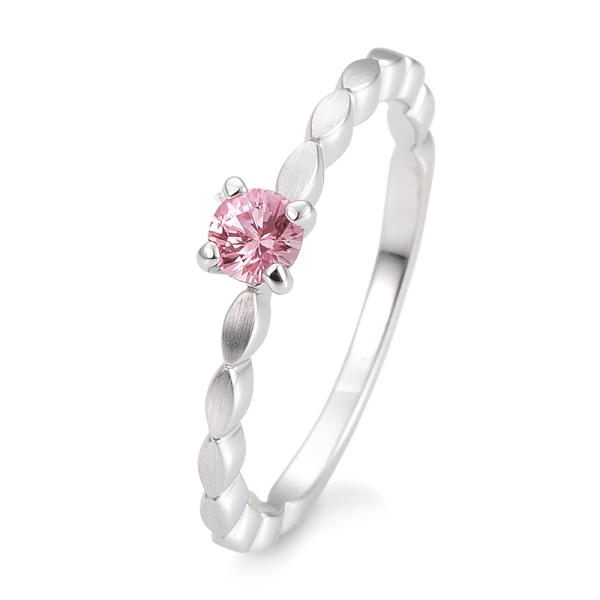 Breuning Verlobungsring Safir Pink Weißgold 585 42/03331