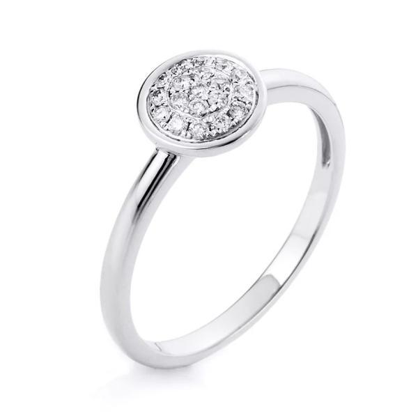DiamondGroup Ring 14 kt Weißgold - 1A527W454-1