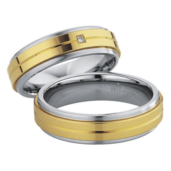 Saint Maurice Stahl-Gold-Ringe 88238 88239