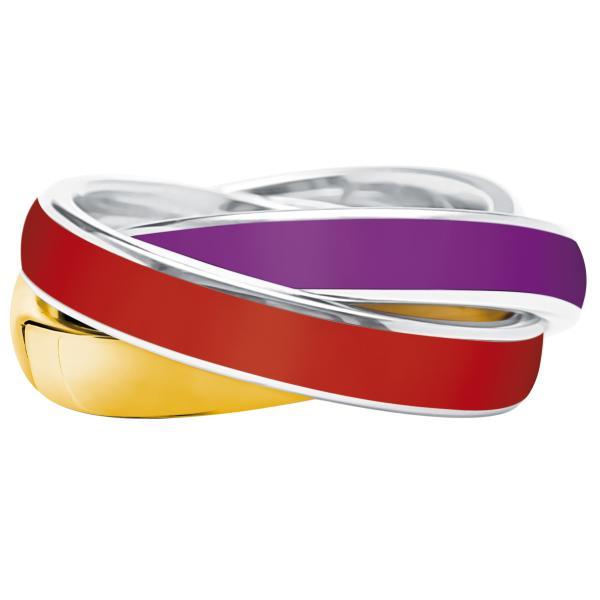 Quinn 3-in-1 Ring, Gold-Violetta-Cherry