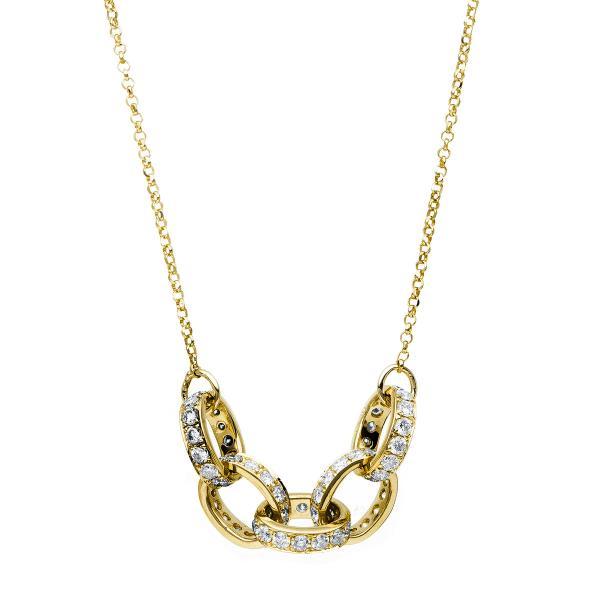 DiamondGroup Diamantcollier Collier 18 kt Gelbgold - 4C154G8-1
