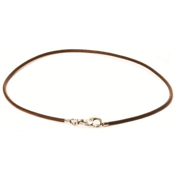 Trollbeads Leder Halsketten braun 42 bis 50 cm