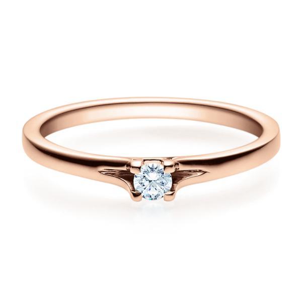 Rubin Verlobungsring 18020 Rotgold Solitär Ring 0,100 ct. tw/si