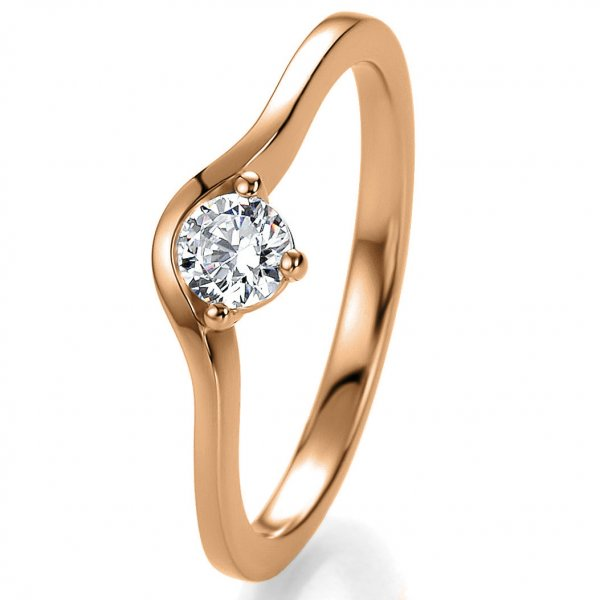 Antragsring Rotgold mit Brillant 0,20 ct 41/53000