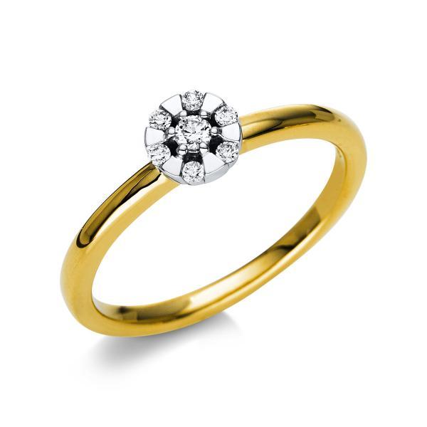 Ring 18 kt Gelbgold & Weißgold - 1T811GW854-1