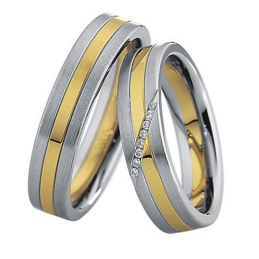 Saint Maurice Stahl-Gold-Ringe 88234 88235