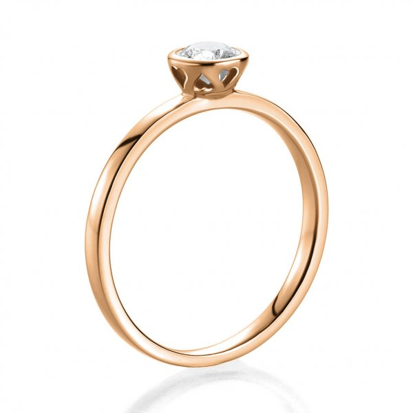 Antragsring Rotgold mit Brillant 0,30 ct 41/52890