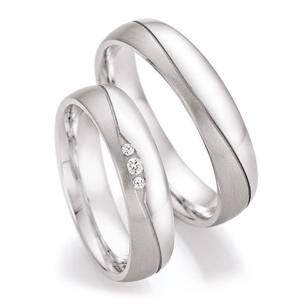 Collection Ruesch Trauringe Partnerringe Silber 925 55/30150 & 55/30160