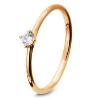 Breuning Verlobungsring Rotgold Brillant 41/05278